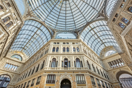 Galleria Umberto I shopping gallery in Naples, Southern Italy