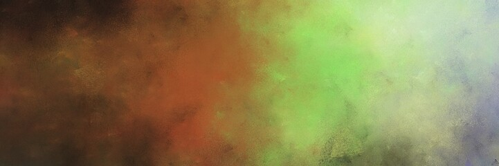 beautiful old color brushed vintage texture with brown and dark sea green colors. distressed old textured background with space for text or image. can be used as horizontal header or banner Wall mural