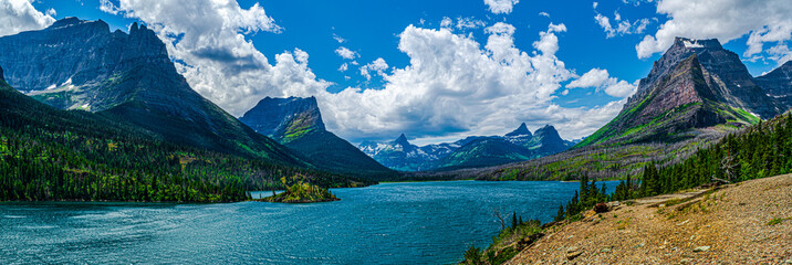 0000287_Amazing panoramic view of Lake St. Mary along the Sun Point Nature Trail, Glacier National Park - Montana_4948