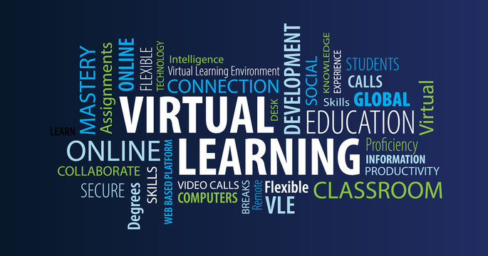 Virtual Learning Word Cloud