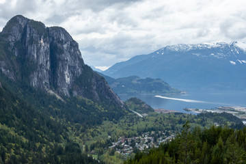 The Chief, granit monolith facing Howe Sound bay.