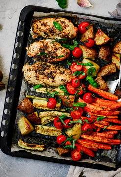 Sheet pan chicken and veggies..