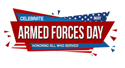 Armed forces day banner design - fototapety na wymiar