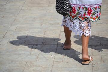 Mujer en  Mérida Yucatán Fotobehang