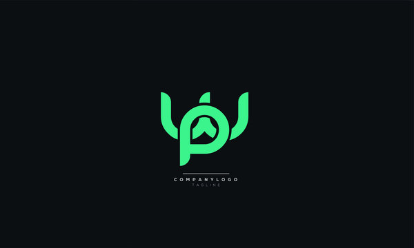 wp pw w p Letter Logo Alphabet Design Icon Vector Symbol