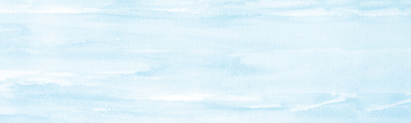 Blue watercolor background, Sky in watercolour painting soft textured on wet white paper...