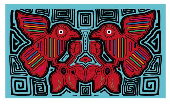 Mola Kuna from Panama Mola bird guna