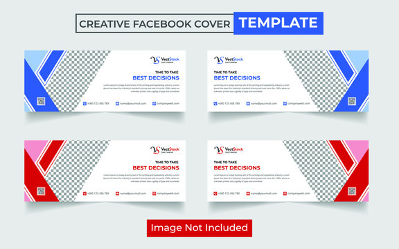 Business facebook cover, Corporate facebook timeline cover template design, Template banner for social network