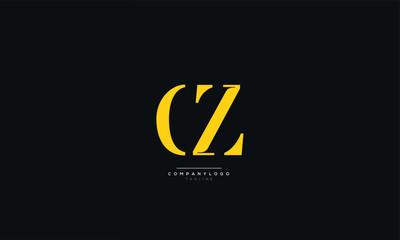 Fototapeta CZ ZC C Z Letter Logo Alphabet Design Icon Vector Symbol obraz