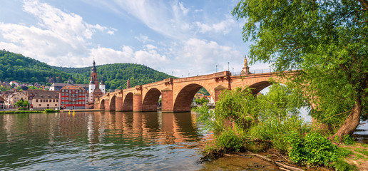 Heidelberg Alte Brücke und Neckar