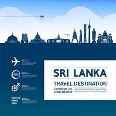 Fotomurales - Sri Lanka travel destination grand vector illustration.