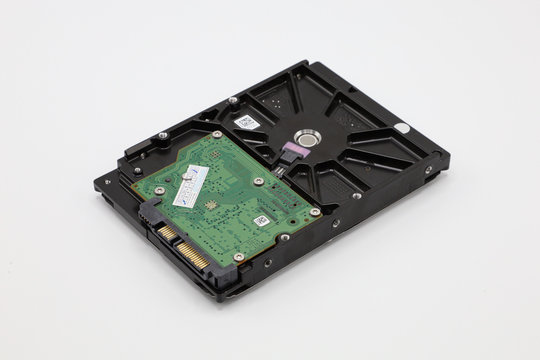 Hard disk isolated on a white background. Computer HDD Hard Disk Drive. Computer Storage Memory. Solid State Drive.