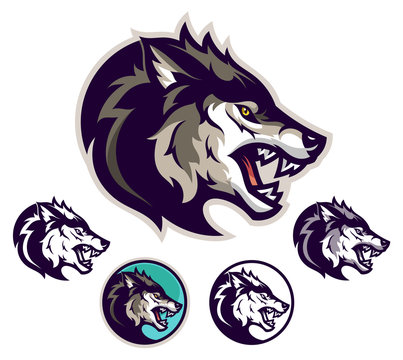 Angry wolf emblem
