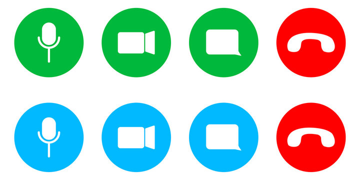 Video call icon, vector conference interface sign.