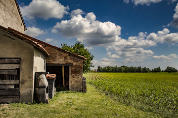 ancient home and fields