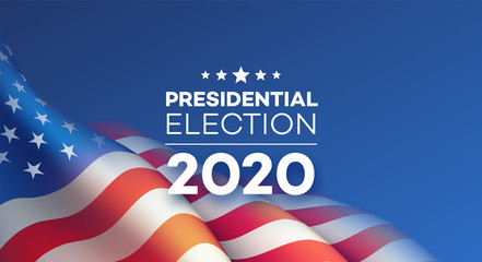 American Presidential Election 2020 background design. Vector illustration