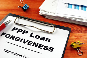 Stores photo Pays d Asie Paycheck Protection Program PPP Loan forgiveness application form.