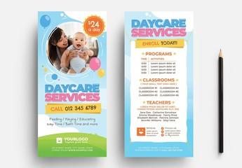 Daycare Kindergarten Flyer Layout for Preschool Services