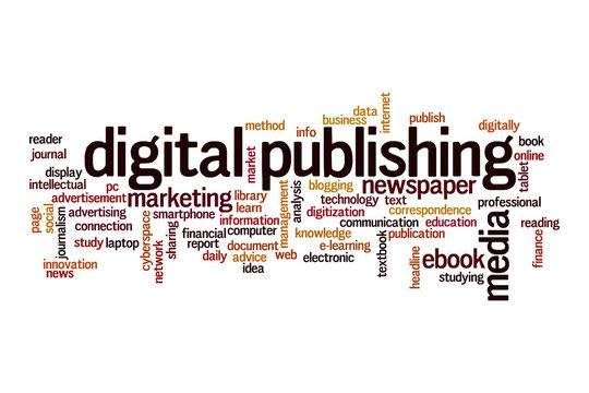 Digital publishing word cloud concept