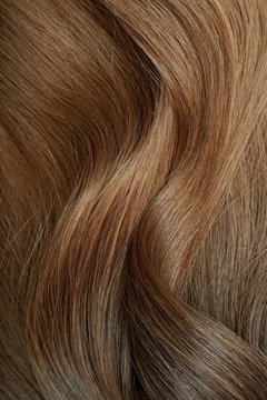 Ombre hair texture from espresso to caramel brown