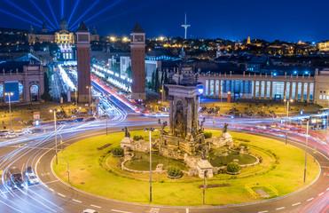 Plaza de Espana after the sunset