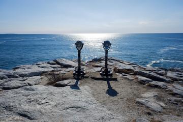 Maine rocks and sea