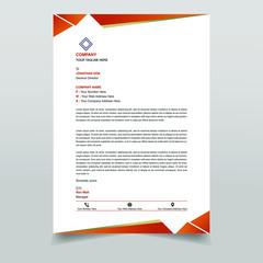 Clean & elegant letterhead template design