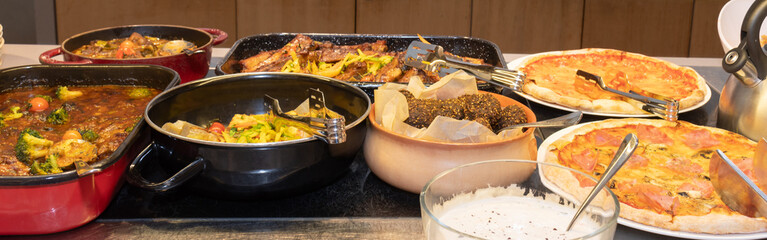 Food Buffet Catering Dining Eating Party Sharing Concept, Easter brunch buffet in a hotel or event
