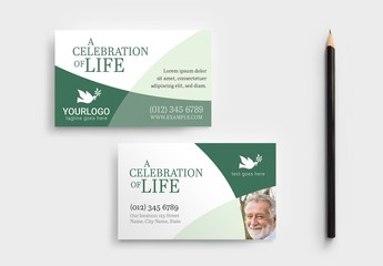 Green Business Card Layout