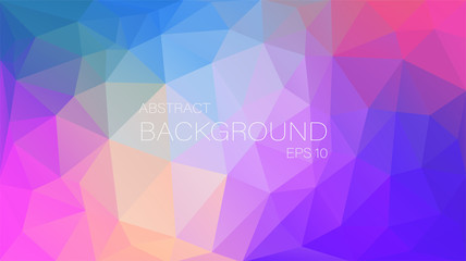 Flat abstract multicolor triangle background for you design