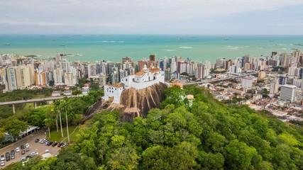 Photo sur Toile Brésil Aerial view of Nossa Senhora da Penha convent and town of Vila Velha - Espírito Santo state - Brazil