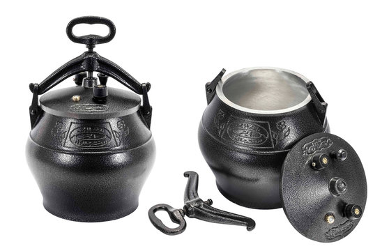 Afghan cauldron (kazan) traditional pressure cooker from Afghanistan and Central Asia