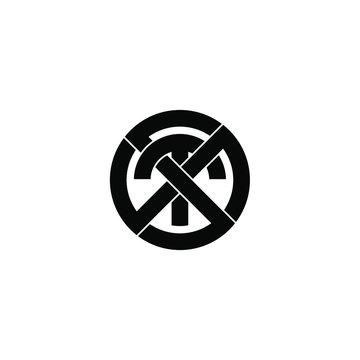 sts letter original monogram logo design