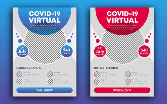 COVID-19 VIRTUAL Conference Flyer Design Template