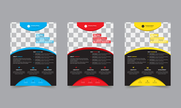Business Style Abstract Corporate Flyer Design Vector Template. Brochure Design, Cover Design, Poster, Flyer Pamphlate and Vector Illustration