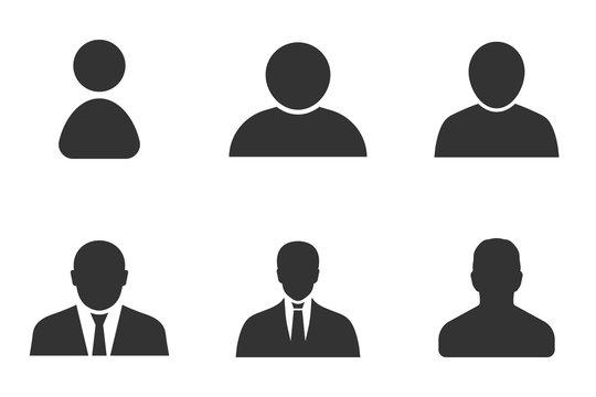 profile icon set, user sign in profile avatar