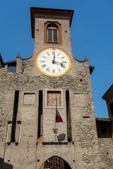 Fototapete - San Polo d Enza, Italy: historic buildings