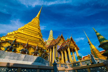Wall Mural - Beauty of the Emerald Buddha Temple important buddhist temple and famous tourist destination of bangkok