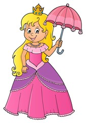 Photo sur Aluminium Enfants Princess with umbrella theme image 1