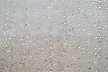 Full Frame Shot Of Water Drops On Window Glass