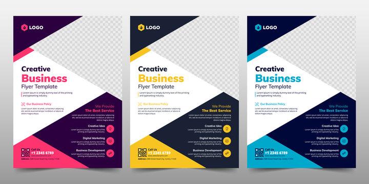 Creative Corporate & Business Flyer Brochure Template Design, abstract business flyer, vector template design. Brochure design, cover, annual report, poster, flyer