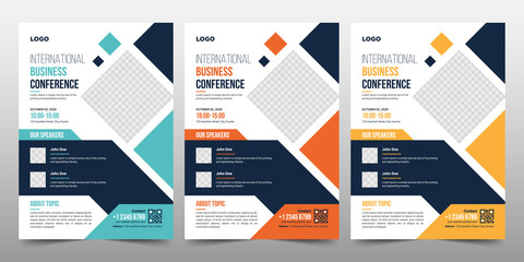 Creative Corporate & Business Conference Flyer Brochure Template Design, abstract business flyer, vector template design. Brochure design, cover, annual report, poster, flyer
