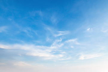 blue sky with white fluffy cloud, landscape background