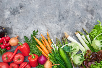 Fresh, raw vegetables on a rustic background. healthy eating concept. Vitamins, immunity