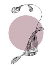 hand drawn abstract