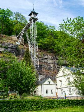 Aufzug Ostrauer Scheibe