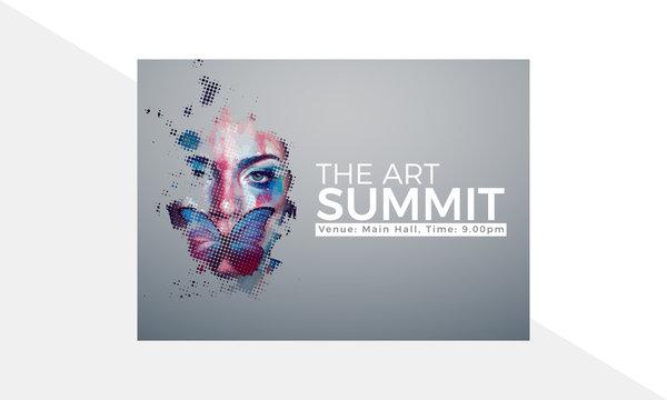 Summit Banner Design, Art Poster Design