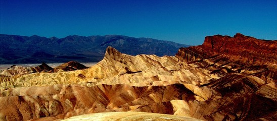 Scenic View Of Rocky Mountains In Death Valley National Park
