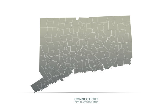 conneticut map. vector map of conneticut, U.S. states.