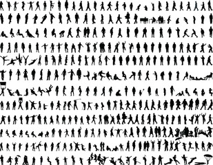 People Silhouette vector Template.People Vector illustration.People Icon Template. Men and women Silhouette.Group of people silhouette.Crowd of people silhouette. Business Silhouette.People Vector Sil